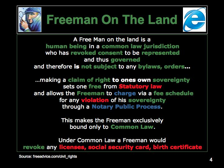 "freemen on the land movement in An anti-government movement known as freeman on the land has become a "" major policing problem"" in bc and several other provinces,."