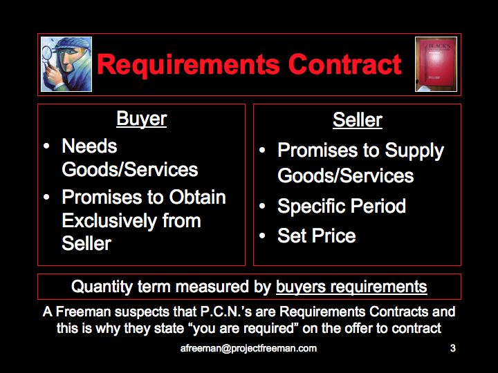 Requirements Contract